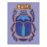 Escarabajo de estiércol egipcio del estiércol del postal