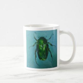 Escarabajo de junio verde (escarabajo de la flor) tazas de café