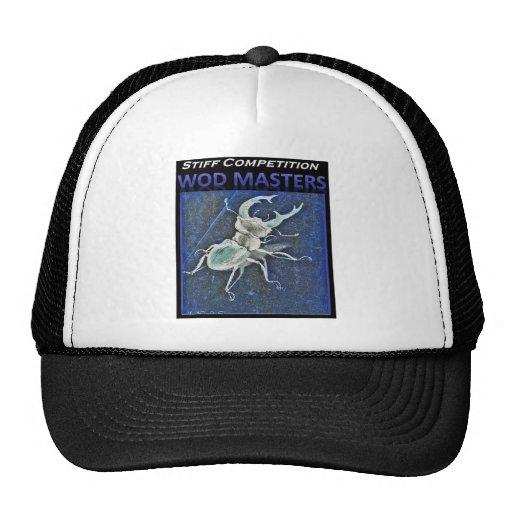 Escarabajo de macho azul de la competencia tiesa gorros bordados