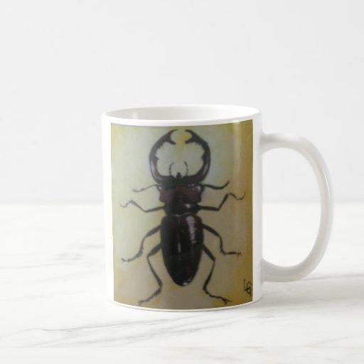 Escarabajo de macho gigante taza
