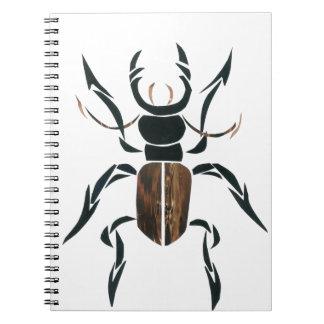 Escarabajo de macho libretas espirales