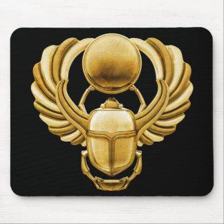 Escarabajo del egipcio del oro alfombrillas de ratones