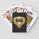 Escarabajo del egipcio del oro baraja de póquer