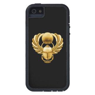 Escarabajo del egipcio del oro iPhone 5 Case-Mate fundas
