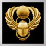 Escarabajo del egipcio del oro impresiones