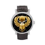 Escarabajo del egipcio del oro relojes