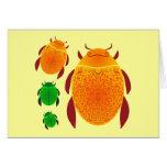 Escarabajo del escarabajo felicitación