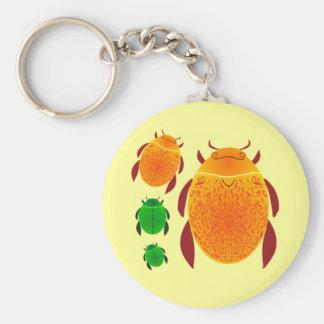 Escarabajo del escarabajo llavero redondo tipo pin