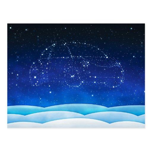 Escarabajo del Navidad- en el cielo Postal