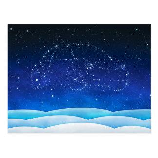 Escarabajo del Navidad- en el cielo Tarjetas Postales