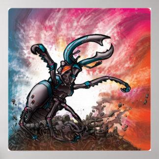 Escarabajo del robot poster