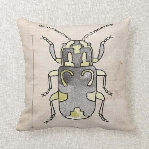Escarabajo del rojo de las series de los insectos+ almohada