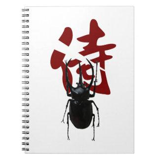 Escarabajo del samurai libretas espirales