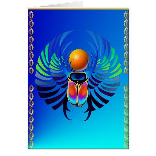 Escarabajo- divino tarjeta