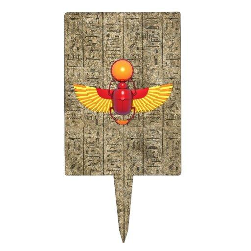 Escarabajo egipcio decoraciones de tartas