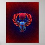 Escarabajo egipcio colorido impresiones