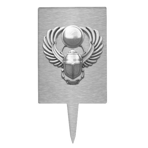 Escarabajo egipcio de plata decoración para tarta