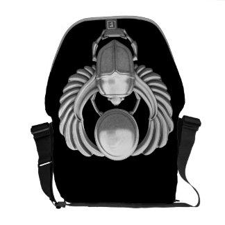 Escarabajo egipcio de plata bolsas de mensajería