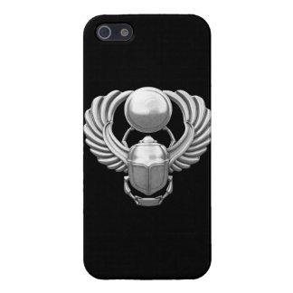 Escarabajo egipcio de plata iPhone 5 fundas