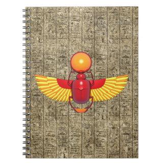 Escarabajo egipcio libretas espirales
