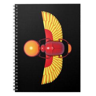 Escarabajo egipcio cuadernos