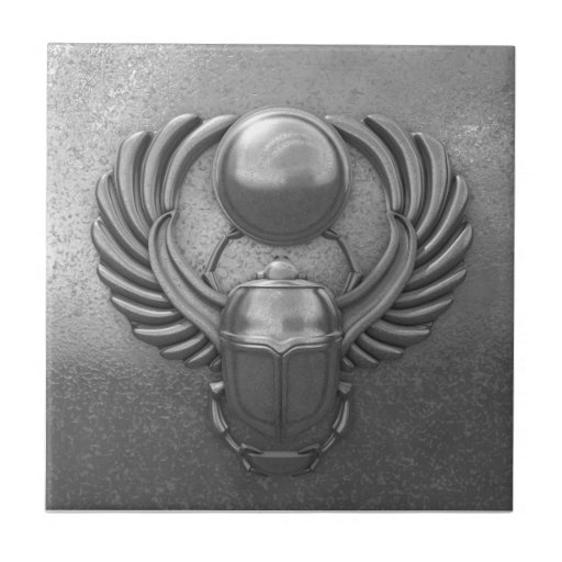 Escarabajo egipcio moderno teja cerámica