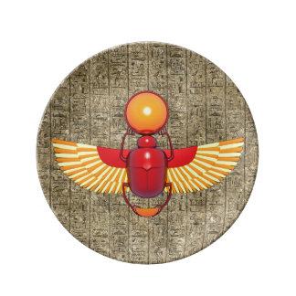 Escarabajo egipcio platos de cerámica