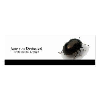 Escarabajo encapuchado minucioso negro tarjetas de visita mini