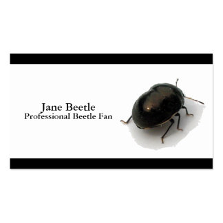 Escarabajo encapuchado minucioso negro tarjetas de visita