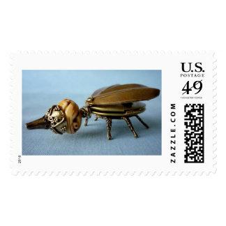 Escarabajo huesudo del diámetro interior timbres postales