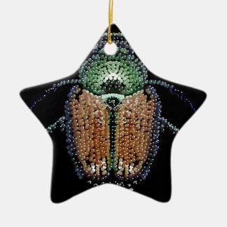 Escarabajo japonés adorno de cerámica en forma de estrella