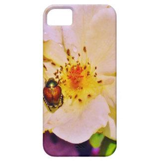Escarabajo japonés en el rosa blanco iPhone 5 Case-Mate cárcasa