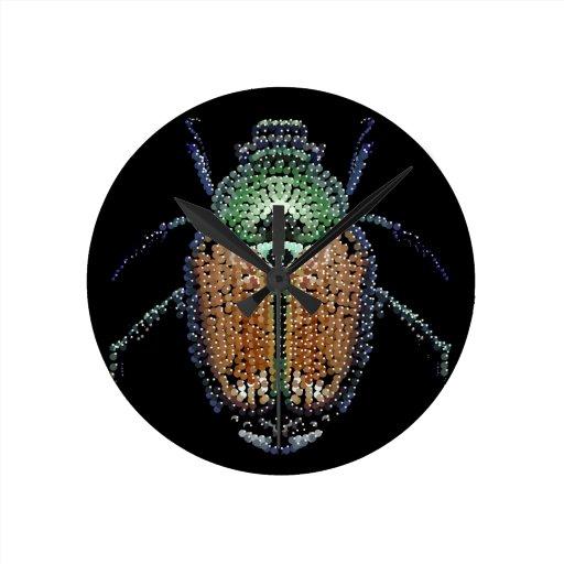 Escarabajo japonés reloj redondo mediano