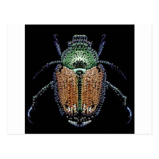 Escarabajo japonés tarjetas postales