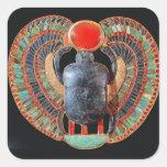 Escarabajo pectoral, de la tumba de Tutankhamun Pegatina Cuadrada