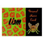 Escarabajo personal del verde de la tarjeta de pre tarjetas de visita