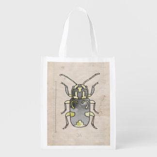 Escarabajo verde de la serie el | del insecto bolsa para la compra