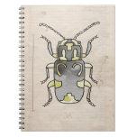 Escarabajo verde de la serie el | del insecto cuaderno
