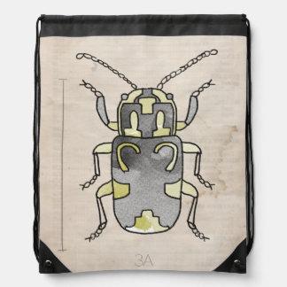 Escarabajo verde de la serie el | del insecto mochila