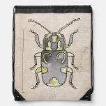 Escarabajo verde de la serie el | del insecto mochilas