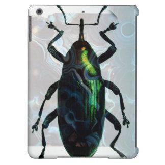 Escarabajo verde fresco funda para iPad air