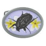 Escarabajo y Pulmeria del escarabajo Hebilla De Cinturon Oval