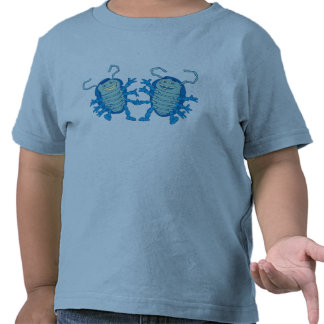 Escarabajos de los pollies del rollie del pliegue camiseta