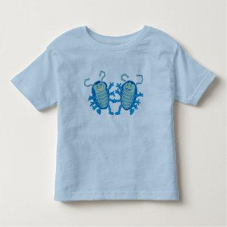 Escarabajos de los pollies del rollie del pliegue playera de bebé