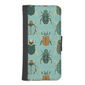 Escarabajos del escarabajo fundas billetera de iPhone 5