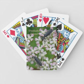 Escarabajos negros en los flores de Putchki Baraja Cartas De Poker