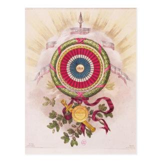 Escarapela, emblema de 1848 postal