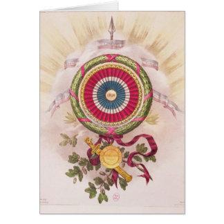 Escarapela, emblema de 1848 tarjeta de felicitación