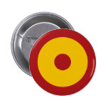 Escarapela española, Spanish roundel Pin Redondo De 2 Pulgadas