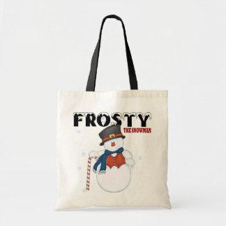 Escarchado el muñeco de nieve bolsa tela barata
